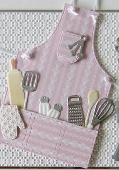 Hello there bloggers! I have a sweet Apron card to share with you today! I must admit, I love to bake and I know this one would be ...