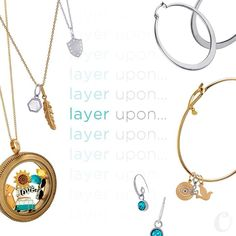 Layering and mixed metals! Looooove!! Origami Owl Living Lockets and Core line with Mementos! #fallstyle #falljewelry #fallstyle