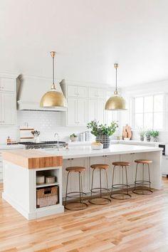 The kitchen that is top-notch white kitchen , modern kitchen , kitchen design ideas! Home Decor Kitchen, Kitchen Furniture, Kitchen Interior, New Kitchen, Awesome Kitchen, Kitchen Ideas, Kitchen Inspiration, Wood Furniture, Updated Kitchen