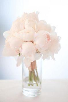 Simple Elegant Lush Pale Pink Peonies Arrangement