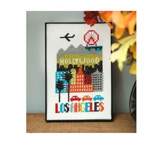 Los Angeles Cross Stitch Pattern Instant Download by tinymodernist
