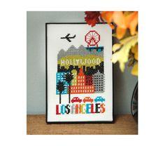 Los Angeles Cross Stitch Pattern Instant Download