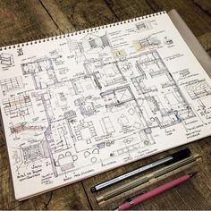 Preliminary study of an apartment of 238m in São Paulo-Brazil.  Estudo preliminar de um apartamento de 238m2 by @arq.pammelarm