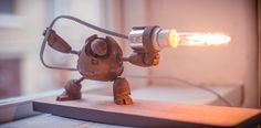 Rusty robot with Flamethrower! by Daniel Forsgren