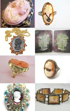 Beautiful Cameos From The GVS Team Members by Sally Ossman on Etsy--Pinned with TreasuryPin.com
