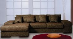 "Beverly Hills Katz Sectional Brown - 2-Piece Sectional Available in LHF/RHF Chaise. Dimensions: 107""/91"" L x 42"" D x 33H""."