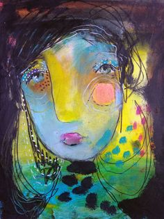 With Magic Stand Strong - an Original Mixed Media Painting on Paper by Juliette Crane