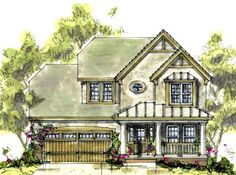 House Plan 69082 | Country Craftsman Plan with 1699 Sq. Ft., 3 Bedrooms, 3 Bathrooms, 2 Car Garage