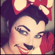 #minnie mouse #makeup #costume #halloween