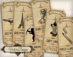 The Paris Shoppe Labels printable gift tags by VectoriaDesigns, $3.65