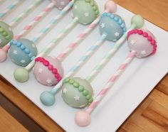 Rattle cake pops