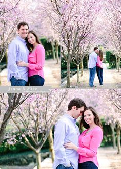 Love love love this engagement session idea- pink!