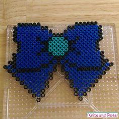Sailor Neptune bow perler beads by knitsandperls