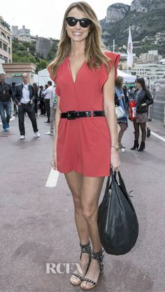 Stacy Keibler in Alice by Temperly at the Monte Carlo Grand Prix