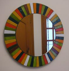 Pinturas, Cristales y Mosaiquismo: Cristales Cd Mosaic, Mirror Mosaic, Mosaic Crafts, Mirror Art, Mosaic Wall, Mosaic Glass, Glass Art, Stained Glass Mirror, Modern Stained Glass
