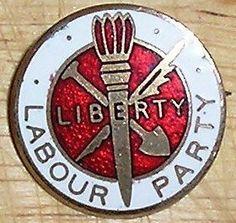 vintage Labour party Liberty enamel pin badge.