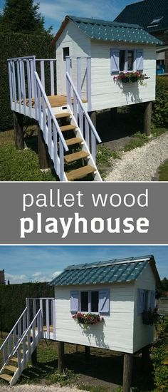 Get full instructions for how to make an adorable playhouse out of pallet wood.
