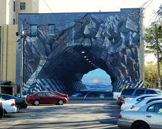 Ciekawe ilu kierowców dało się wyprowadzić w pole. To znaczy w ścianę. Mural gdzieś w Karolinie Południowej. (autor. Blue Sky)