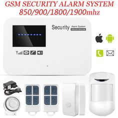 New Wireless/wired Phone SIM GSM Home Burglar Security GSM Alarm System English Russian Spansih Voice Prompt Alarm Sensor kit Dvr Security System, Home Security Alarm, Wireless Home Security, Security Surveillance, Home Security Systems, Safety And Security, Ios, Android App, Digital Video Recorder