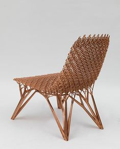Joris Laarman Lab | Microstructures Adaptation Chair (Long Cell) | 2014 | Copper plated nylon 3D print