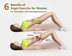 Suffering from urinary incontinence? Females can kegel their way to a healthier pelvic floor and males can reduce the premature ejaculation and other sexual issues. Kegel Exercise For Men, Excercise, Exercise Videos, How To Do Kegels, Yoga Stretching, Urinary Incontinence, Coconut Health Benefits, Floor Workouts, Academia