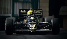 Ayrton Senna in the John Player Special