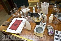 221B set - Sherlock's 'laboratory table' aka kitchen table