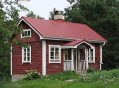 I want one of these Swedish Stuga houses Swedish Cottage, Cute Cottage, Red Cottage, Scandinavian Cabin, Sweden House, Red Houses, Cottage Exterior, House Siding, Cottage Design