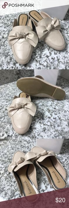 d974fac8aca1 Francesca's Darlie Bow Backless Loafer Super cute mules in new condition!!  Very light pink
