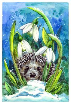 Сообщество иллюстраторов | Иллюстрация Анна Петунова - Весна пришла. Живопись…