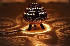 Coconut Lamp Wave Design Standing