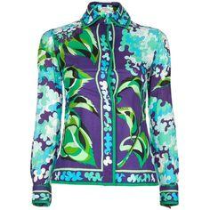 EMILIO PUCCI VINTAGE printed jacket ($1,980) ❤ liked on Polyvore