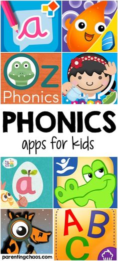 These Phonics Apps for Kids help kids practice with basic phonics skills, including recognizing the letters of the alphabet, alphabet matching, and word building.