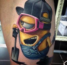 Dope minion tattoo