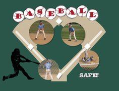 Baseball diamond made with digital punches.  May 2015 Calendar Page created by Kelly DeTommaso. http://kellyscreativecorner.com/2014/12/05/my-2015-calendar/   #stampinup #stampin' #up! #MDS #MyDigitalStudio #homemade calendars #digitalscrapbooking #scrapbooking