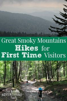 Great Smoky Mountains Hikes for First Time Visitors - Our Adventuring Family Looking for some family friendly Great Smoky Mountains hikes? Here's some fun hikes and destinations to explore on your first visit. Great Smoky Mountains, Smoky Mountains Hiking, Smoky Mountains Tennessee, Mountain Hiking, Nc Mountains, Appalachian Mountains, Tennessee Vacation, Gatlinburg Tennessee, Visit Tennessee