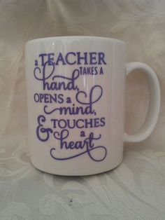 Teacher vinyl quote for mugs glass ect