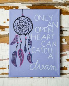 Dream Catcher Quote Canvas by MansionHillDesigns on Etsy