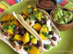 For the Love of Cooking » Cilantro Lime Chicken Tacos with a Mango and Black Bean Salsa