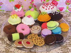 Crochet Food, Knit Crochet, Food Patterns, Play Food, Bows, Embroidery, Stitch, Knitting, Amigurumi