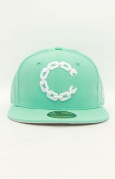 Crooks & Castles Chain Dot C NE Fitted Hat - Tiffany
