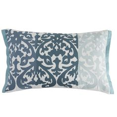 Our damask print lumbar pillow in gorgeous gradient blues will blend beautifully in a group on your sofa or set by itself in a favorite chair.  A supportive polyfill insert behind a hidden zipper gives our pillow a firm shape that's ready for placement in any scene. Get ready for rave reviews.