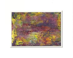 Purple Fields of Peace Abstract Acrylic Original by rostudios, $35.00