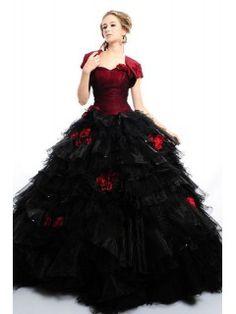 Schwarz Weiße Brautkleid Lange Brautmode Hochzeitskleid Mit Spitze $ ...
