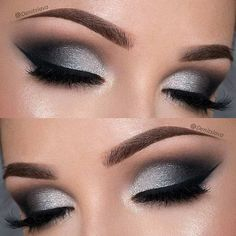 Dramatic Black & Silver Smokey Eye
