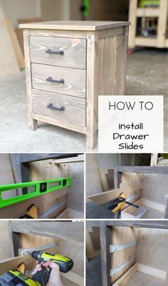 How to Install Drawer Slides | Install drawer slides quickly and easily. This tutorial focuses on how to install bottom mount drawer slides.