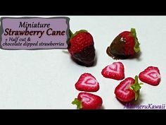 ▶ Miniature Strawberry Cane & chocolate dipped berries - Polymer Clay Tutorial - YouTube