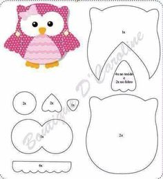 owl pattern, in green Owl Templates, Applique Templates, Applique Patterns, Applique Designs, Quilt Patterns, Sewing Patterns, Owl Applique, Owl Crafts, Paper Crafts