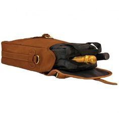 Mulholland All Leather Two-Bottle Wine Carrier