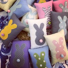 Bunny Easter pillows